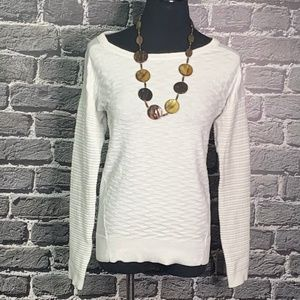 Olive + Oak White Textured Sweater/Top Sz XS